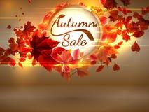 Autumn Sale-achtergrond met copyspace plus EPS10 Royalty-vrije Stock Foto's