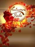 Autumn Sale-achtergrond met copyspace plus EPS10 Stock Afbeeldingen