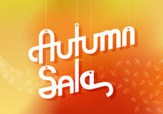 Autumn Sale Advertising Banner Stock Photos