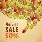 Autumn Sale-affiche Royalty-vrije Stock Foto