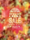 Autumn Sale affisch Arkivbild
