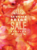 Autumn Sale affisch Royaltyfria Bilder