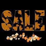 Autumn Sale affisch Royaltyfri Bild