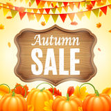 Autumn Sale Announcement Image stock