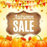 Autumn Sale Announcement  Stock Image