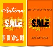 Autumn Sale. Banner for sale Royalty Free Stock Photo