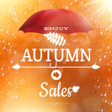 Autumn sale backdrop. EPS 10 Royalty Free Stock Photos