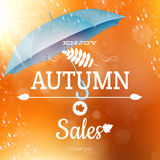 Autumn sale backdrop. EPS 10 Stock Images