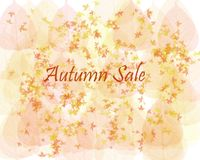 Autumn Sale Background Fotografia Stock