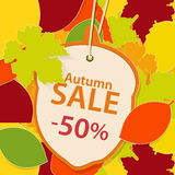 Autumn Sale Background Arkivfoto