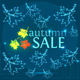 Autumn Sale Background Imagem de Stock Royalty Free