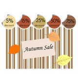 Autumn sale background with bar code Stock Photo