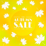 Autumn sale, background. Royalty Free Stock Photo