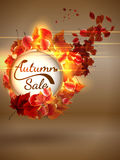 Autumn Sale background with copyspace. plus EPS10 Royalty Free Stock Images