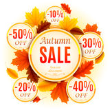 Autumn Sale Background Stock Photography
