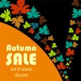 Autumn sale background Stock Photography