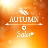 Autumn sale background. EPS 10. Autumn sale background. Geometric design. EPS 10 vector file included Stock Images