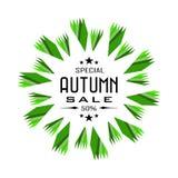 Autumn Sale background badge Stock Photos