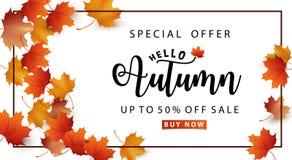 Autumn Sale Stock Photo