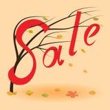 Autumn Sale Background Nedgångförsäljningshändelse Royaltyfri Bild