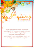 Autumn sale background with orange leaves Royalty Free Stock Photography