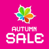 Autumn Sale Background. Autumn Sale Pink Vector Background Royalty Free Illustration