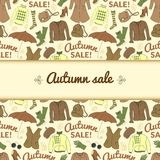 Autumn sale background with season women clothes Royalty Free Stock Image