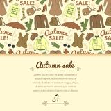 Autumn sale background with season women clothes Stock Images
