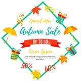 Autumn Sale Background Venta de la caída, oferta del otoño Fotografía de archivo