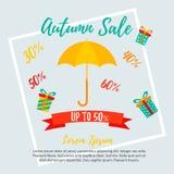 Autumn Sale Background Venta de la caída, oferta del otoño Fotos de archivo