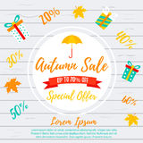 Autumn Sale Background Venta de la caída, oferta del otoño Foto de archivo libre de regalías