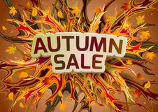 Autumn sale banner with abstract shapes. Vector illustration Royalty Free Stock Photography