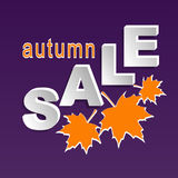 Autumn sale banner Royalty Free Stock Image