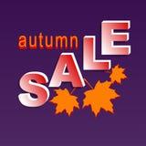 Autumn sale banner Stock Photography