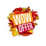 Autumn sale banner. Discount template Stock Photo