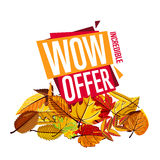 Autumn sale banner. Discount template Royalty Free Stock Image