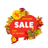 Autumn sale banner. End of season. Stock Image