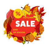 Autumn sale banner. End of season. Royalty Free Stock Photo