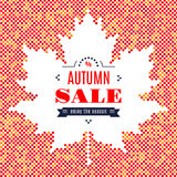 Autumn sale banner Fall Festival Background Maple Leaf Stock Image