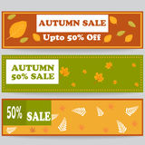 Autumn sale banner or header for web or print Royalty Free Stock Image