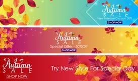 Autumn sale banner. Illustration of Autumn sale banner vector illustration