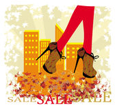 Autumn Sale banner Royalty Free Stock Photo
