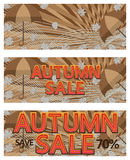Autumn sale banner template Stock Image