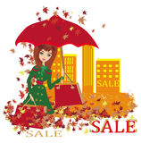 Autumn Sale banner Royalty Free Stock Photos