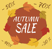 Autumn Sale Banner. Vector - Illustration - Flat Stock Photography