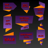 Autumn sale banners Royalty Free Stock Photos