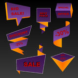 Autumn sale banners Royalty Free Stock Images