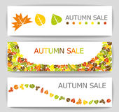 Autumn sale banners Stock Photos