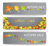 Autumn sale banners. Illustration collection Royalty Free Stock Image