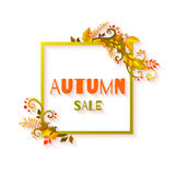 Autumn sale banners with leafs. Vector Stock Images